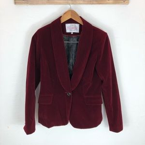 Pink Martini Red Velvet Blazer
